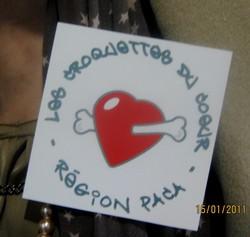 Le logo de notre association, toujours présent au cours de nos actions...