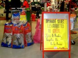 Même le magasin a participé à l'affichage, merci pour cette aide!